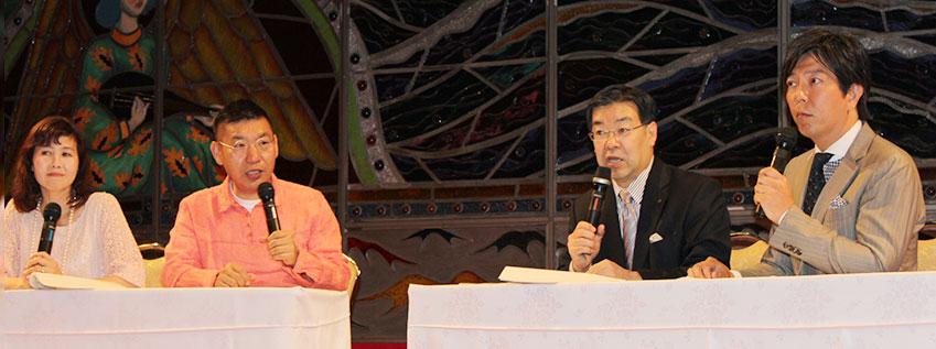 「地域包括ケア3大プロジェクト」について語る山田啓二京都府知事
